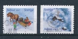 Schweden 2007 Julpost Gest. Schlitten Pferd + Winterhütte - Schweden