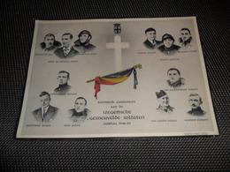 Doodsprentje ( G 845 ) Aandenken Izegemsche Gesneuvelde Soldaten Oorlog 1940 - 45 / Iseghem Izegem - Soldaat - Obituary Notices