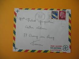 Lettre De La Réunion CFA  1971  N° 346A - 385  De  Saint Paul  Pour La France  (EM : Son Théâtre ... Son Frstival) - Reunion Island (1852-1975)