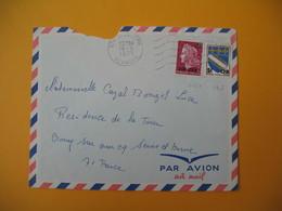 Lettre De La Réunion CFA  1971  N° 346A - 385  De  Saint Joseph  Pour La France - Reunion Island (1852-1975)