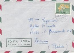 BUSTA VIAGGIATA  PAR AVION - PORTOGALLO - MALVERIA  - VIAGGIATA PER TORINO / ITALIA - Lettere