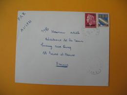 Lettre De La Réunion CFA  1971  N° 346A - 385  De  Cilaos  Pour La France - Reunion Island (1852-1975)