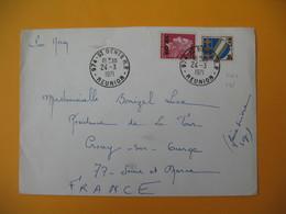 Lettre De La Réunion CFA  1971  N° 346A - 385  De Saint Denis  Pour La France - Reunion Island (1852-1975)