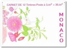 Monaco 1995, Postfris MNH, Flowers ( Booklet, Carnet ) - Postzegelboekjes