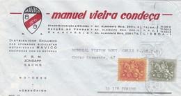 BUSTA VIAGGIATA - PORTOGALLO - LISBOA - MANUEL VIEIRA CONDECA - DISTRIBUIDOR EXCLUSIVO - VIAGGIATA PER TORINO / ITALIA - 1910 - ... Repubblica
