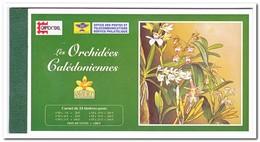 Nieuw Caledonië 1996, Postfris MNH, Flowers, Orchids ( Booklet, Carnet ) - Boekjes