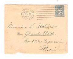 PR6544/ TP Type Sage S/devant De Lettre C.U.S.Postal STA.22/6/1900 Paris EXP N. V.Paris - 1877-1920: Période Semi Moderne