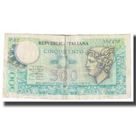 Billet, Italie, 500 Lire, KM:95, TB - [ 2] 1946-… : République