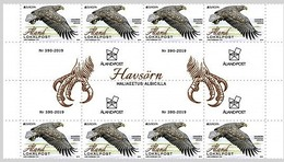 Aland 2019 4 Gutter Pairs  MNH Europa National Birds White-tailed Eagle (Haliaeetus Albicilla) - Arends & Roofvogels