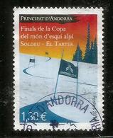 FINALE De La COUPE DU MONDE De SKI ALPIN ANDORRA. 11-17 Mars 2019 . Timbre Oblitéré 1 ère Qualité - Used Stamps