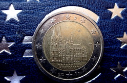 Germany 2 Euro -  D -  Coin  2011 Nordrhein-Westfalen  Coin CIRCULATED - Allemagne