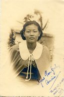 PORTRAIT ASIAN WOMAN, RETRATO MUJER ASIÁTICA, FEMME ASIATIQUE. FOTO PHOTO YEAR 1938 TRINIDAD B.W.I. SIZE: 9X14 CM -LILHU - Personas Anónimos