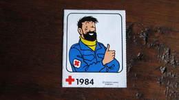 TINTIN AUTOCOLLANT HADDOCK  HERGE - Tintin