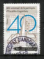 40è Aniversari De La Parròquia D'Escaldes-Engordany 1978-2018., Un Timbre Oblitéré, 1 ère Qualité - Used Stamps