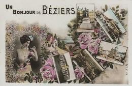 34/ Beziers - Carte Multi Vues , Un Bonjour De Beziers - Beziers
