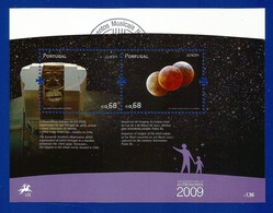 Portugal   2009  Mi.Nr. Block 281 (3407/3408) , EUROPA CEPT - Astronomie - Gestempelt / Fine Used / (o) - Europa-CEPT