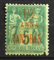 France (ex-colonies & Protectorats) > Zanzibar (1894-1904) 1896-1900 N° 17 Y & T Neuf* - Sansibar (1894-1904)