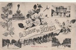 34/ Beziers - Carte Multi Vues , Un Baiser De Beziers - Beziers