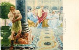 "HENRYK SIENKIEWICZ ""QUO VADIS"" No. 6 GASTMAHL BEI NERO. ART POSTALE, ARTE PORTAL CPA NON CIRCULE -LILHU - Malerei & Gemälde"