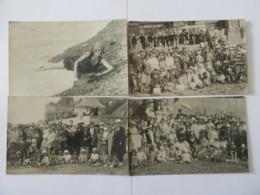 Lot De 15 Cartes Postales Photo - Réunion Familiale, Baigneurs, Scènes De Plage - Pour étude - Vers 1922 - Personaggi