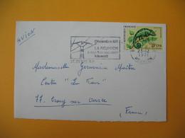 Lettre De La Réunion CFA  1971  N° 399  Caméléon Protection De La Nature De Saint Denis  Pour La France - Réunion (1852-1975)