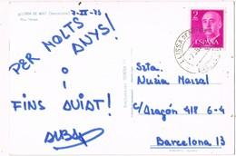 33144. Postal LLIÇA De MUNT (Barcelona) 1973. Vista Rio Tenas - 1931-Hoy: 2ª República - ... Juan Carlos I