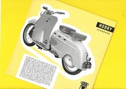 """Scooter """"DKW Hobby""""  Format 20 X 20 Cm Env. Recto/Verso - Motos"""