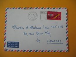 Lettre De La Réunion CFA  1972  N° 410  Code Postal  De Saint Denis  Pour La France - Reunion Island (1852-1975)