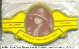 Vitolas Royal Flash. Pintura. Amarilla. FM Ref. 14-1474 - Vitolas (Anillas De Puros)