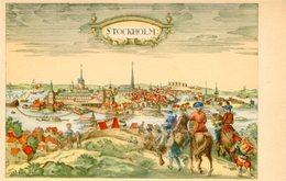 """STOCKHOLM"" PEINTURE VUE PANORAMIQUE. ART POSTALE, ARTE PORTAL CPA CIRCA 1910's NON CIRCULE -LILHU - Pintura & Cuadros"