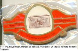 Vitolas Royal Flash. Marcas De Tabaco Americano. FM Ref. 14-1476 - Vitolas (Anillas De Puros)