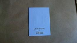 Carte Parfumée Chloé Love Story - Profumeria Moderna (a Partire Dal 1961)