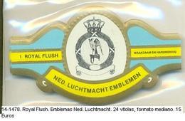 Vitolas Royal Flash. Emblemas Ned. Luchtmacht. FM Ref. 14-1478 - Vitolas (Anillas De Puros)