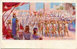 AIDA ATTO II. EGYPTE PEINTURE, EGYPT PAINTING. ART POSTALE, ARTE PORTAL CPA NON CIRCULE -LILHU - Pintura & Cuadros