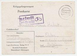 POW Card Germany - Belgium 1941 Pear - Apple - Fruit - Censor Stamp - Stalag VI J - Frutas