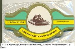 Vitolas Royal Flash. Hoovercraft Y Hidrofoils. FM Ref. 14-1479 - Vitolas (Anillas De Puros)