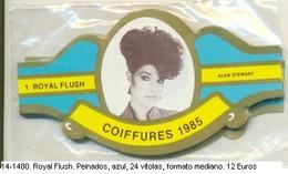 Vitolas Royal Flash. Peinados.azul.  FM Ref. 14-1480 - Vitolas (Anillas De Puros)