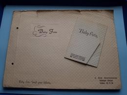 Small ALBUM With BABY Foto > Korte Herentalsestraat ANTWERPEN ( With 12 Photo + 1 Extra > Zie Detail Foto's ) ! - Albums & Collections