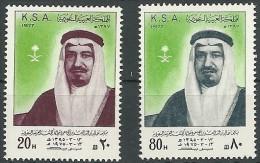 Arabie Saoudite 1977 Yvertn° 447-48 *** MNH  Cote 90 Euro Roi Khaled Erreur De Date - Arabie Saoudite