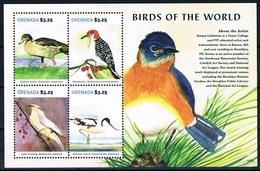 Bloc Sheet Oiseaux Birds  Neuf MNH ** Grenada 2015 - Parrots