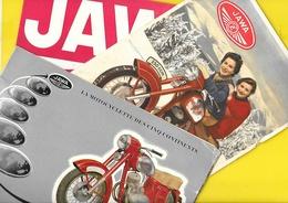 """Motos """"JAWA"""" 1 Catalogue 16 Pages + 2 Pub 250 Et 350 Format 15 X 23 Pour Le Catalogue MOTOKOV CZ - Motos"""