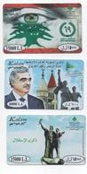 3 Kalam Used Phonecard Lebanon, Telecarte Liban Libano - Liban