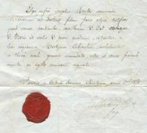 Letter   V. Borie   Albrand B.    Paris    1838 - Documents Historiques