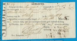 Angifte   St. Niklaas   1830 - Documents Historiques