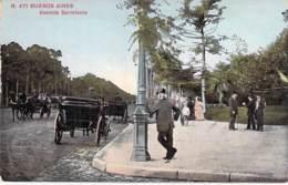 ARGENTINA Argentine - BUENOS AIRES : Avenida Sarmiento - CPA N° 471 - AMERIQUE DU SUD South America Sudamerica - Argentina