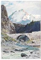 AK Gebirge, Fluss, Steinbrücke, Künstler AK, Splitgerber.jr., Ungel. - Künstlerkarten