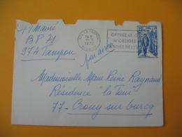 Lettre De La Réunion CFA  1972  N° 401 Anniversaire De La Mort Du Général De Gaulle Le Tampon  Pour La France - Reunion Island (1852-1975)