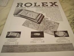 ANCIENNE PUBLICITE   MONTRE ROLEX  1932 - Joyas & Relojería