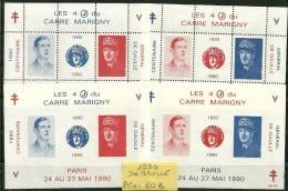 Blocs Marigny 1990  4 Blocs De GAULLE - Autres