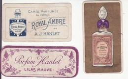 Lot De 3 Cartes Parfumées - Hanlet - Royal Ambre, Eau De Cologne - Perfume Cards
